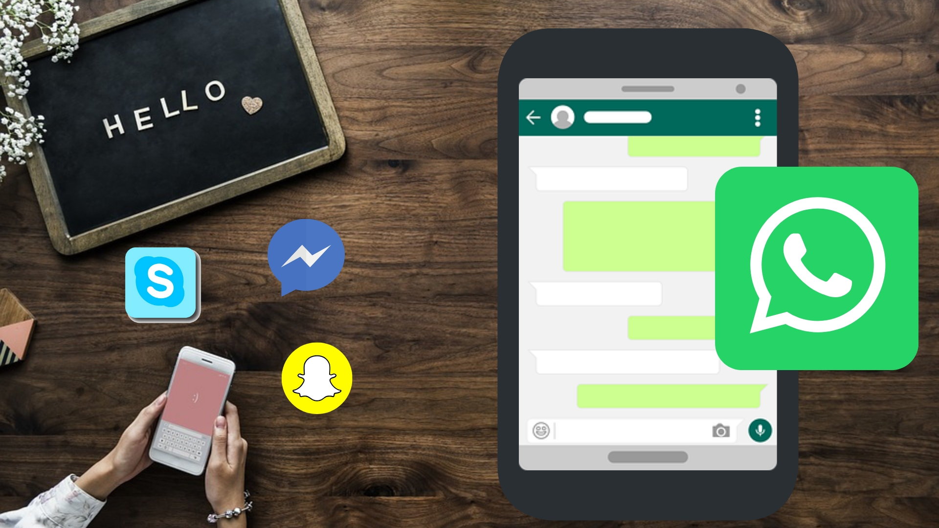 Logo Whatsapp, Telegram y Line